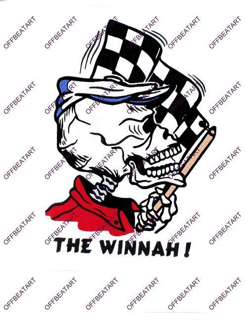 Hot Rat Rod Vintage Window Decal Impko's The Winnah