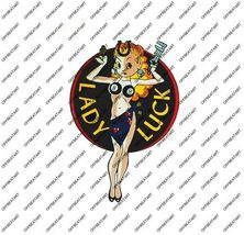 Hot Rat Rod Vintage Window Decal Impko's Lady Luck 2 - $2.95