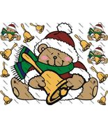 Teddy Bears and Bells Iron on Shirt Decals Full sheet - $7.95