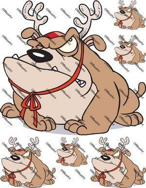 Reindeer Bulldog Iron on Shirt Decals Full sheet