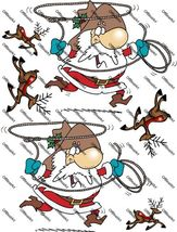 Cowboy Santa and Deers Iron on Shirt Decals Full sheet - $7.95