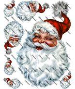 Jolly old Santa Iron on Shirt Decals Full sheet - $7.95