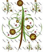 Abstract Christmas Tree Ironon Shirt Decals Full sheet - $7.95