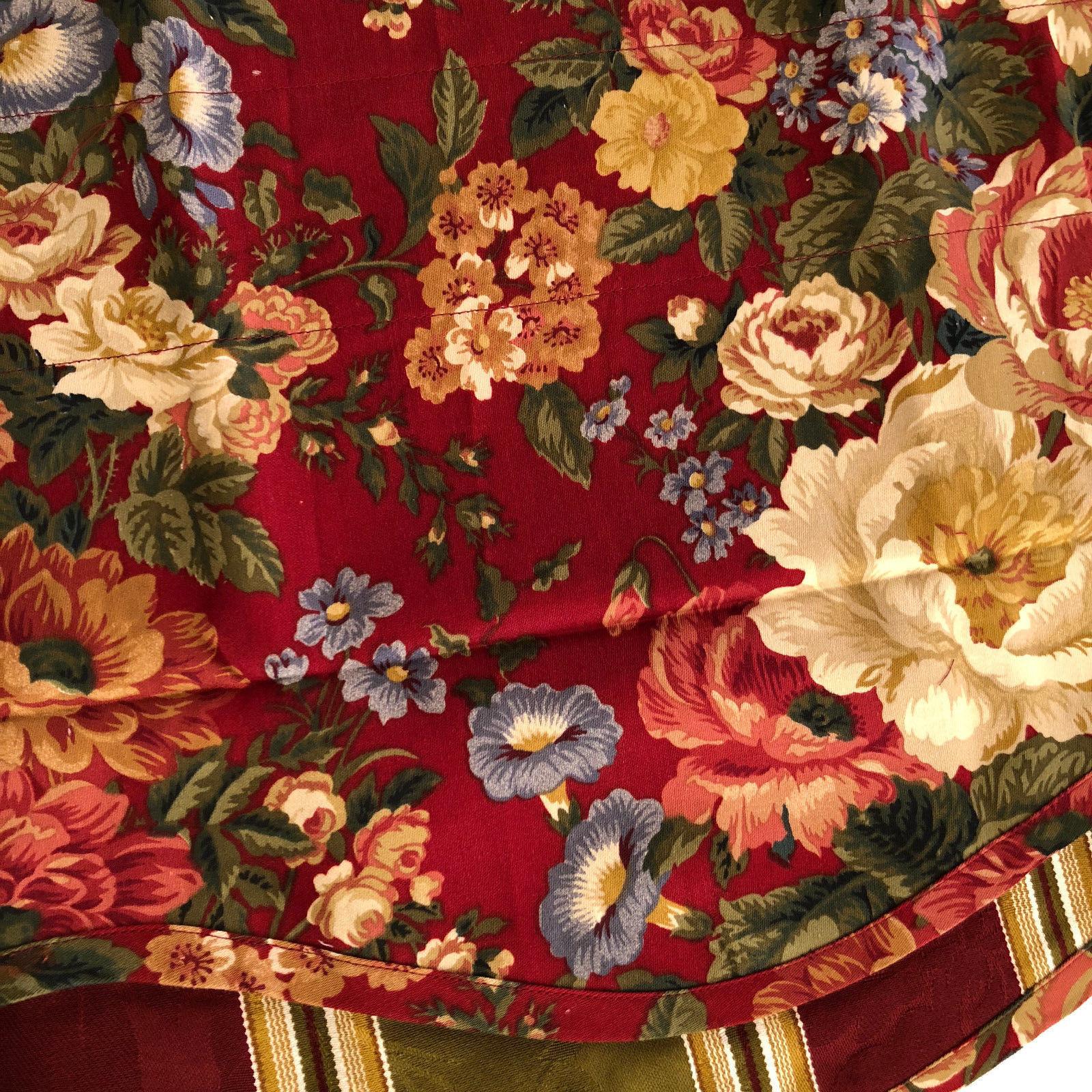 Waverly Valance Fairfield Cabernet Burgundy Villa Carlotta Floral Scallop 14x78
