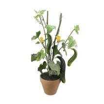 "A & B Home 26"" Artificial Green and Yellow Cucumber Plant in Terra Cotta... - $36.62"