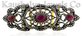 Victorian 2.32ct Rose Cut Diamond Ruby Superb Cute Design Wedding Ring - $342.21