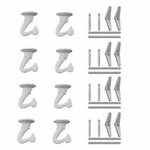 8 Sets Swag Ceiling Hooks and Hardware, Nydotd Swag Hooks with Steel Screws/Bolt image 9