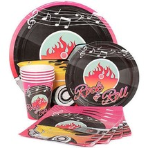 Classic 50's Tableware (Plates Napkins Cups Table Covers) (SERVES 8)* - $35.79