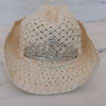 VTG White PRINCESS CROWN COWGIRL HAT Western - $22.10