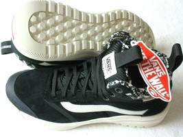 Vans Womens UltraRange Hi DI MTE All Weather Boots Woven Black White Size 6.5 - $71.52