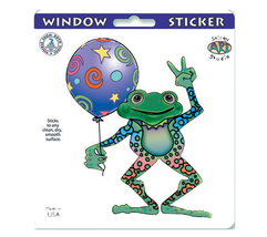 Peace Frog Window Sticker Deadhead  Car Decal  Hippie  - $5.49