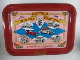 Coca-Cola Tin Tray Commemorative 12th Annual Antique Winter Festival Florida - $14.85
