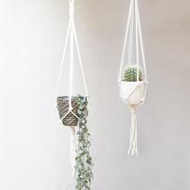 Nova Studio Macrame Plant Hanger | Knotted Plant Hanger | Hanging Planter - £32.37 GBP