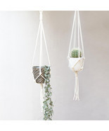Nova Studio Macrame Plant Hanger | Knotted Plant Hanger | Hanging Planter - £31.95 GBP