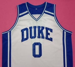 Wendell Moore Duke Blue Devils White College Jersey Any Size Free Wwjd Bracelet - $29.99