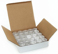 50, Clear, Empty, 5 Gram Plastic Pot Jars, Cosmetic Containers. - $13.40