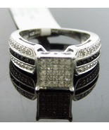 New Women's round cut diamonds Engagement Ring band .925 Silver .75CT Si... - $229.68