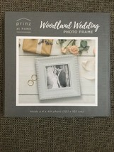 Photo frame 4x4 white wood wedding bridal distressed - €11,86 EUR