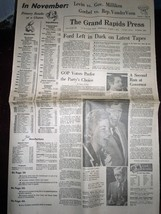 Vintage The Grand Rapids Press Ford Left In Dark & Primary Aug 7 1974 image 1