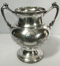 Meriden Silverplate Company Quadruple Plate Sugar Bowl #1413 575 GR - $29.69