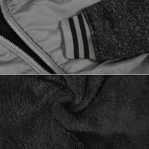 Vertical Sport Men's Sherpa Fleece Lined Two Tone Zip Up Hoodie Jacket image 13
