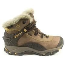 Merrell Thermo Arc Waterproof Primaloft Polartec Vibram Brown Leather Boots Sz 7 - $79.99