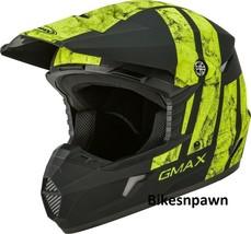 New Youth S Gmax GM46 Dominant Matte Black/Hi-Viz Offroad Helmet DOT image 1