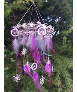 Purple Large Dreamcatcher Mobile Baby Dream Catcher Mobile Bohemian Drea... - $72.49