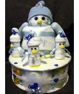 BLUE DIAPER PENGUIN Baby Shower Gift Boy Diaper... - $55.00