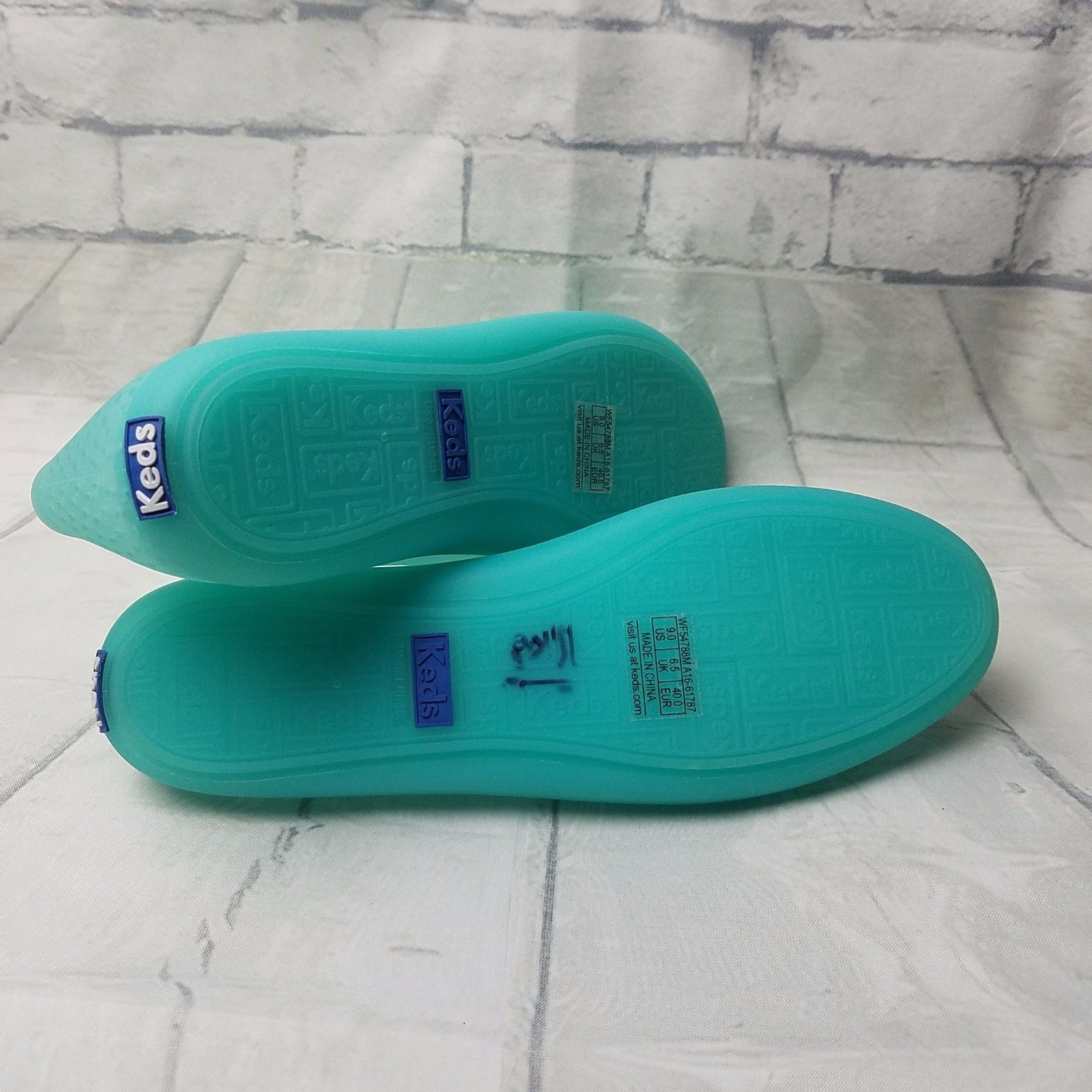 Keds Teacup Jelly Slip On Shoes Color Aqua Turquoise Rubber