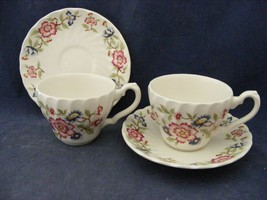 2 Franciscan Mandarin Cup & Saucer Sets Mint Condition Staffordshire Eng... - $12.95