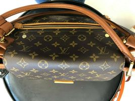"LOUIS VUITTON ""Olympe MM"" Monogram Canvas & Leather Shoulder Bag w/Buckle $3400 image 5"