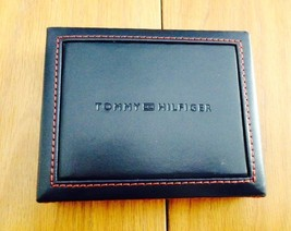 Tommy Hilfiger Trifold Passcase Wallet New In box with Tag Brown Leather image 2