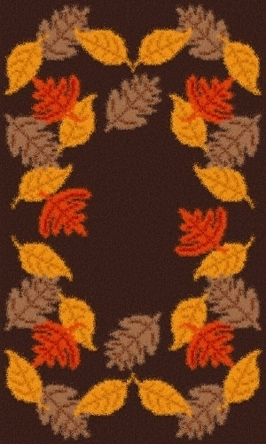 Latch Hook Rug Pattern Chart: FALL LEAVES - EMAIL2u