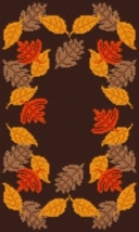 Latch Hook Rug Pattern Chart: Fall Leaves - EMAIL2u - $5.75