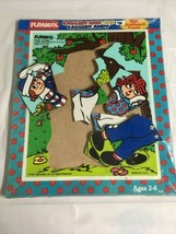 Vintage 1987 Playskool Raggedy Ann & Andy D Wooden Puzzle Nos #216 10 Piece - $17.75