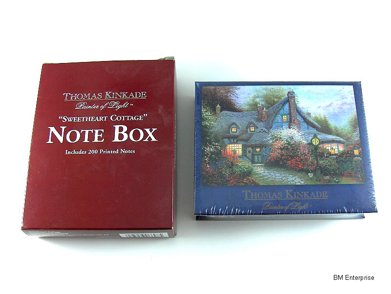 Primary image for Thomas Kinkade Painter of Light Sweetheart Cottage Note Box