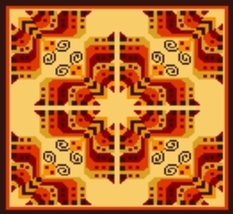 Latch Hook Rug Pattern Chart: Andean Butterfly -EMAIL2u - $5.75