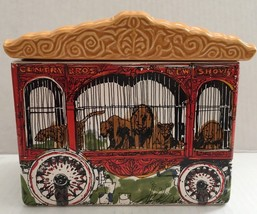 Enesco Centry Lions Tigers Circus Parade Car Ceramic Cookie Jar - $59.39