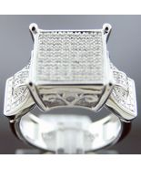 Women's round cut diamonds Engagement Ring band .925 Silver .35CT Size 6.5 - $170.20