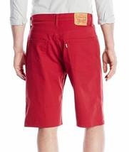Levi's 569 Men's Premium Cotton Loose Straight Denim Shorts Red 355690208 image 2