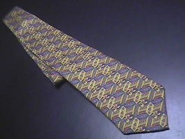 Ferracci Silk Neck Tie Golds Browns and Reds - $10.99