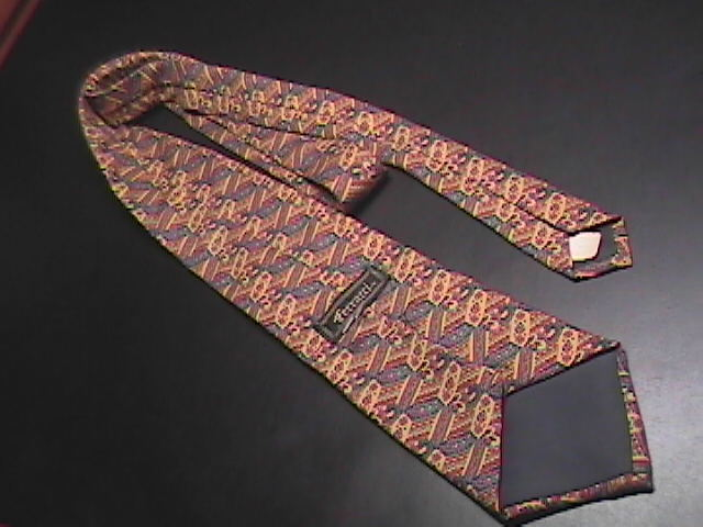 Ferracci Silk Neck Tie Golds Browns and Reds