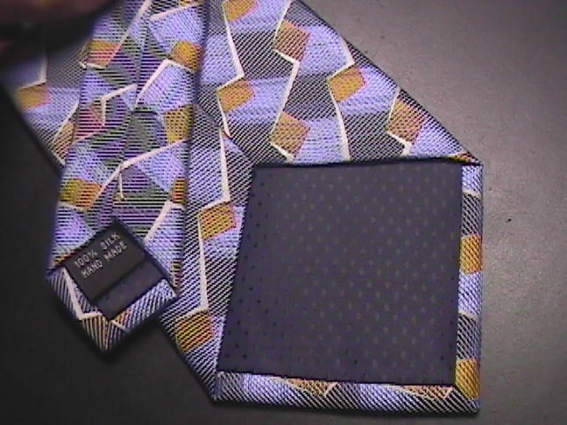Stacy Adams Signature Gold Neck Tie Blues and Gold