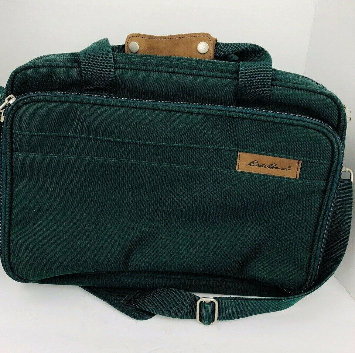 Primary image for Eddie Bauer Messenger Bag Green Travel Tote Briefcase Gym Weekender Computer