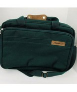 Eddie Bauer Messenger Bag Green Travel Tote Briefcase Gym Weekender Comp... - $44.54