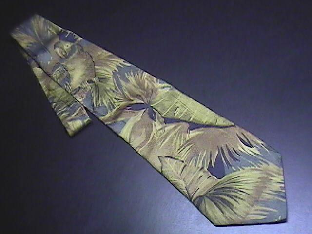 Tie ermenegildo zegna tropical with parrot greens   browns 01