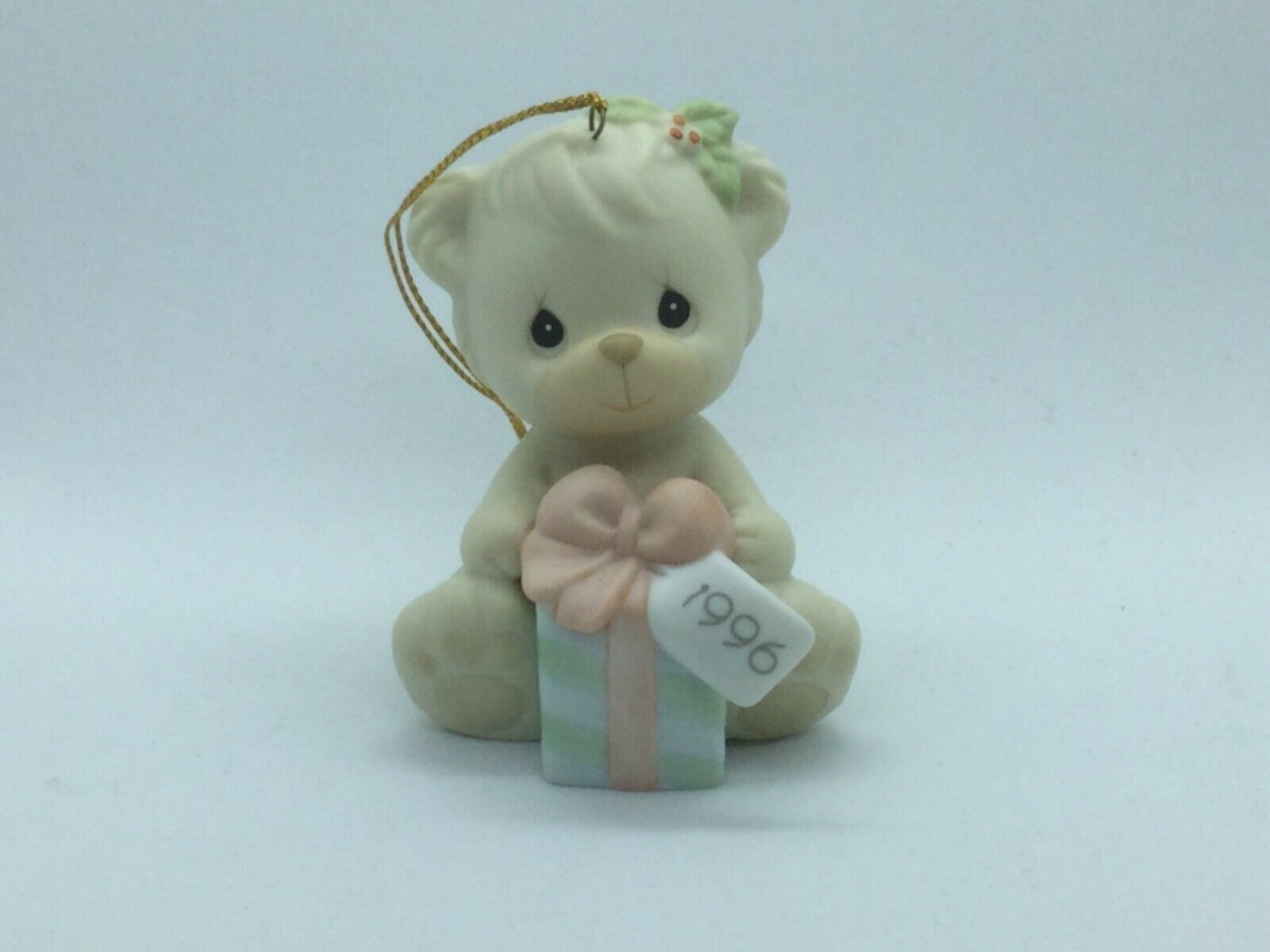Primary image for #531200 PRECIOUS MOMENTS 1996 CHRISTMAS ORNAMENT, 1ST YEAR ISSUE, BEAR W/GIFT
