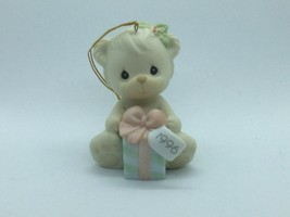 #531200 Precious Moments 1996 Christmas Ornament, 1ST Year Issue, Bear W/GIFT - $13.75