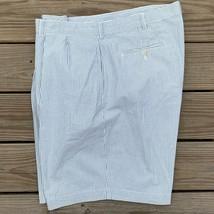Polo Ralph Lauren Searsucker Shorts Green White Stripe Casual Boating Mens 42 - $23.75